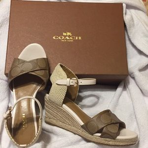 Coach Sandals with free coach eye glass case